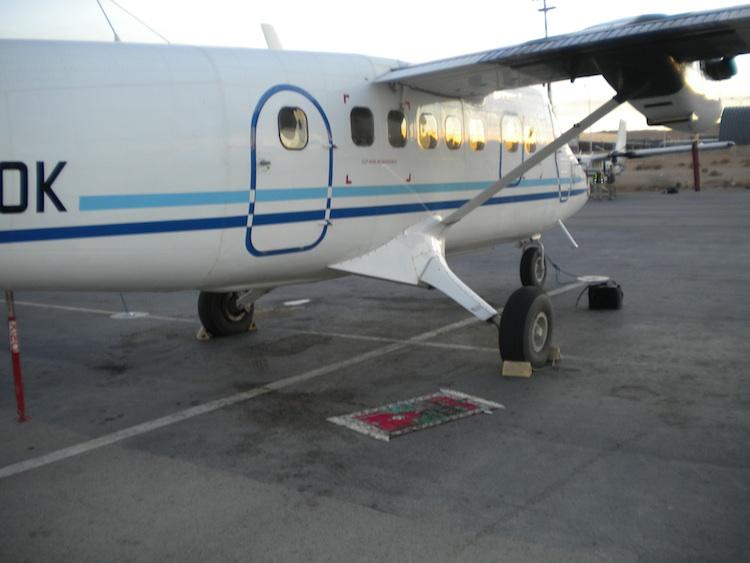 Tapis d'un pilote de ligne, tarmac, Suisse