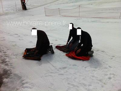 Au ski, pistes de la station des Ornières, France