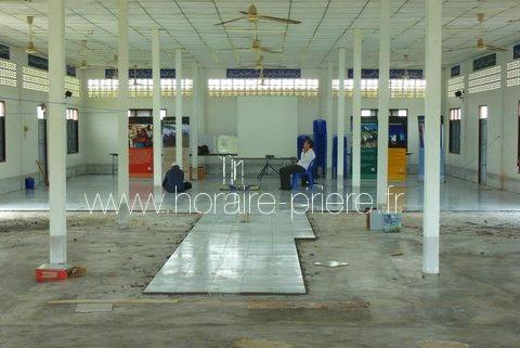 Salle de prière en construction, Pattani, Thailande