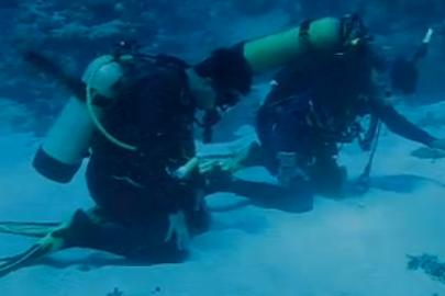 Prière sous l'eau