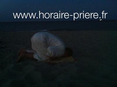 Sur une plage dans le sud de la France