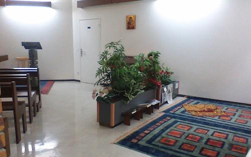 Dans une salle oecuménique à l'hôpital, Kremlin Bicêtre, France