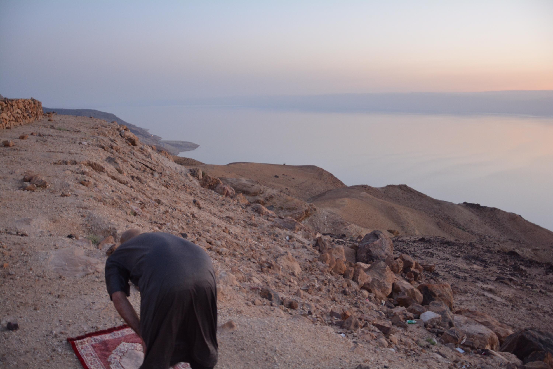Jordanie, face à la mer morte et la Palestine en arrière plan