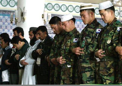 Prière de soldats coréens