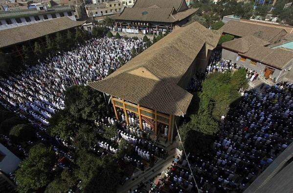 Aid al-Fitr à la mosquée de Xining, China