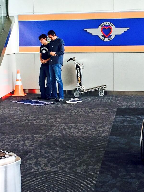 Dans un aéroport