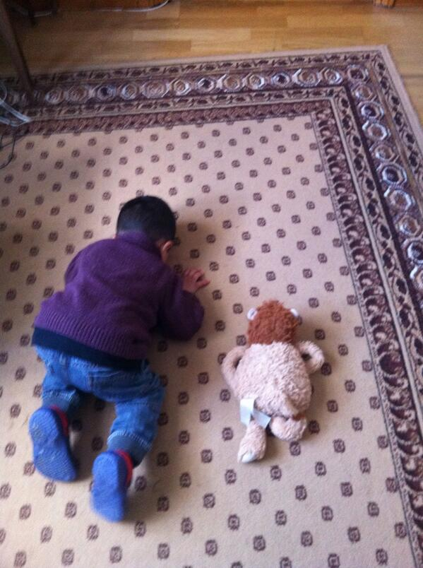 Avec son Teddy