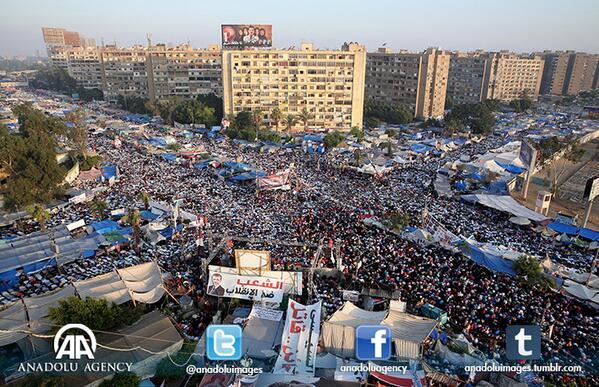 Regroupement des Egyptiens au Caire pour salat al-Aid