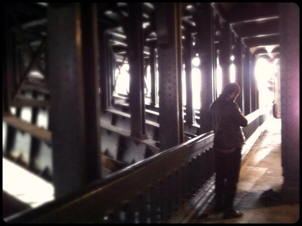 Sous le pont Alexandre III à Paris