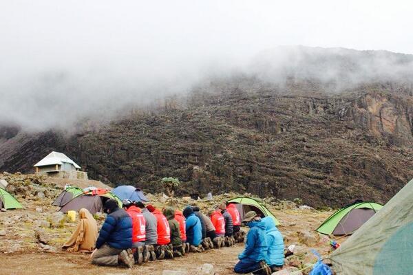 Sur le mont Kilimandjro en Tanzanie