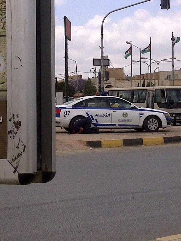 La pause du policier jordanien