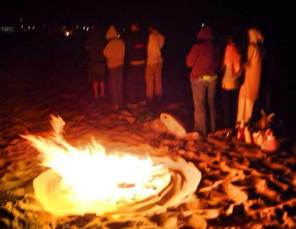 Sur la plage une nuit d'été