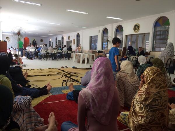 Dans la seule mosquée de Rio de Janeiro au Brésil
