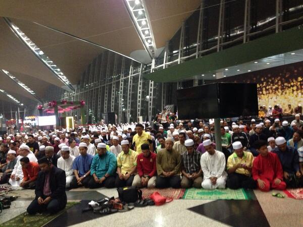 A l'aéroport de Kuala Limpur en Malaisie