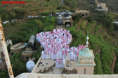 Prière de l'Aid al-Fitr sur la montagne Al-abdal, en Arabie Saoudite