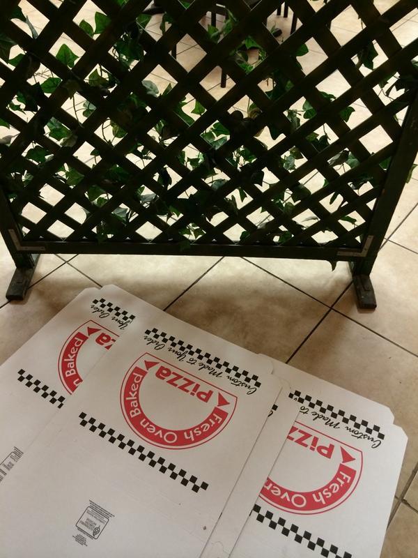 Dans une pizzéria