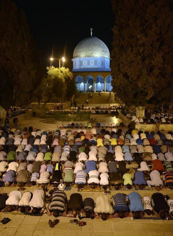 Salat Taraweeh, Masjid al-Aqsa, Palestine