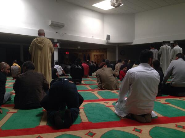 A la mosquée Al-wifaq, Mons-en-Baroeul