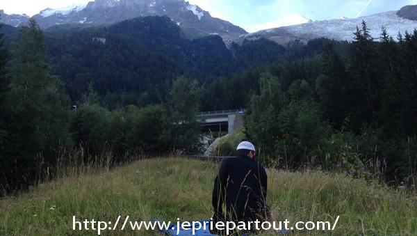 Avec vue sur le Mont Blanc