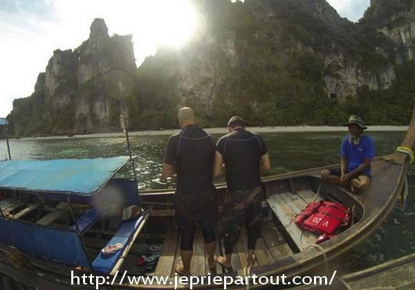 Sur un bateau-taxi, à Koh Phi Phi