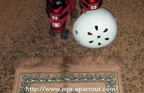 Pendant l'entraînement de hockey
