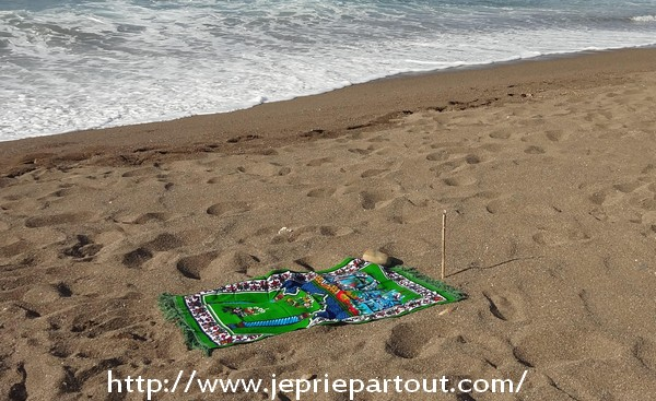 Sur la plage de Saket